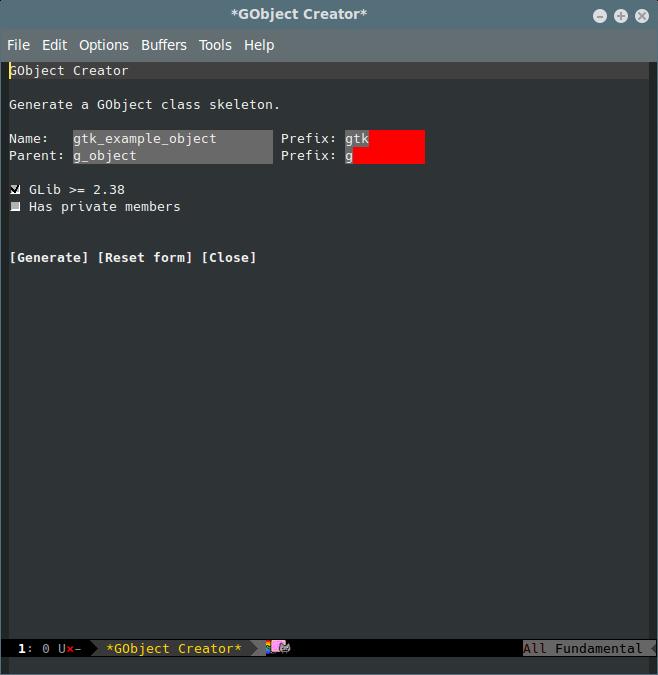 A screenshot of GobGen in action